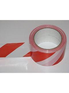 Páska PVC samolepící červenobílá
