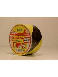 Páska  PVC žluto/černá samolepící
