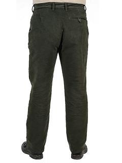 Kalhoty hladké dyftýn zelené
