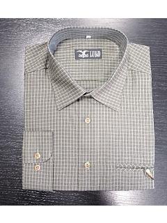 Košile dlouhý rukáv šedozelené káro