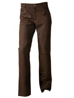 Kalhoty kožené 5 kapes