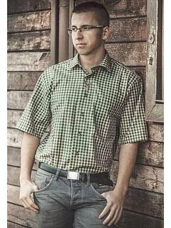 Košile krátký rukáv s výšivkou jelena