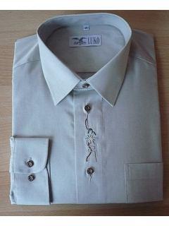 Košile s výšivkou dlouhý rukáv
