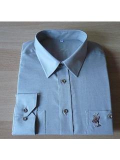 Košile dlouhý rukáv s výšivkou srnce