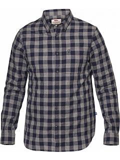 Košile dl. rukáv modrá kostka Övik Check Shirt