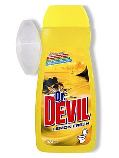 Dr.Devil WC gel 400 ml Lemon + závěs