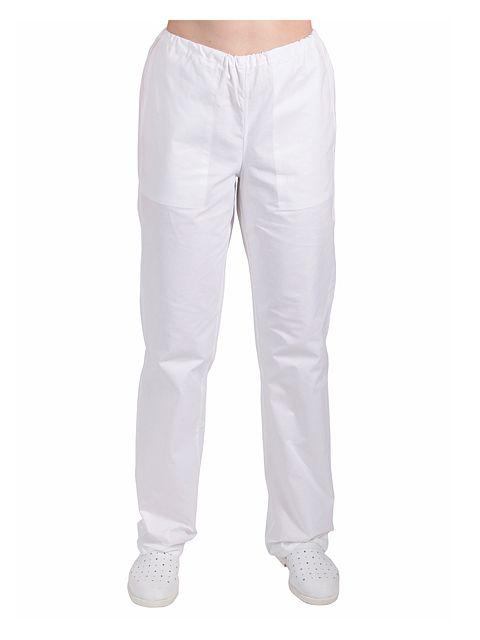 d34dc4a7c4a Dámské kalhoty bílé do gumy - 021117