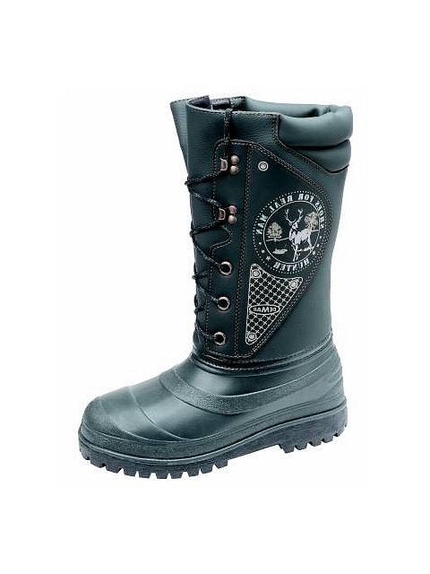 Vysoká zimní obuv s pravým beranem - 032005  46545991c6